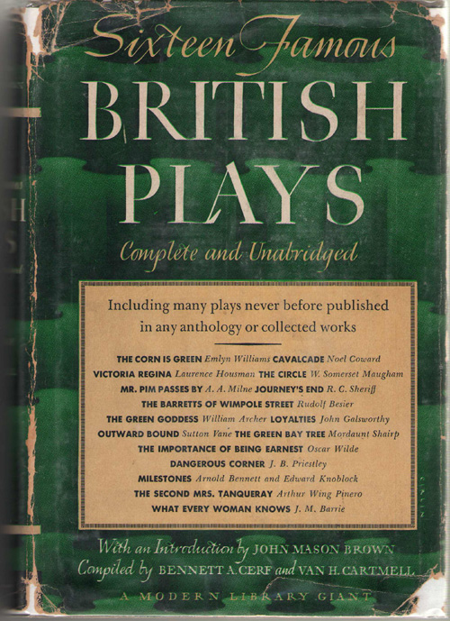 Image for Sixteen Famous British Plays Complete and Unabridged