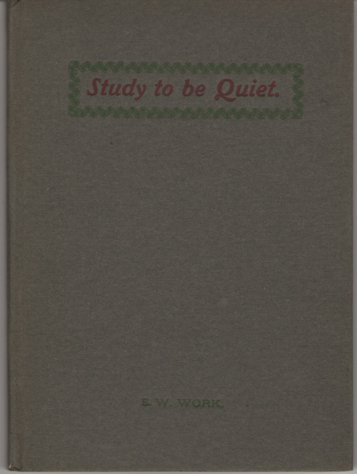 Image for Study To Be Quiet
