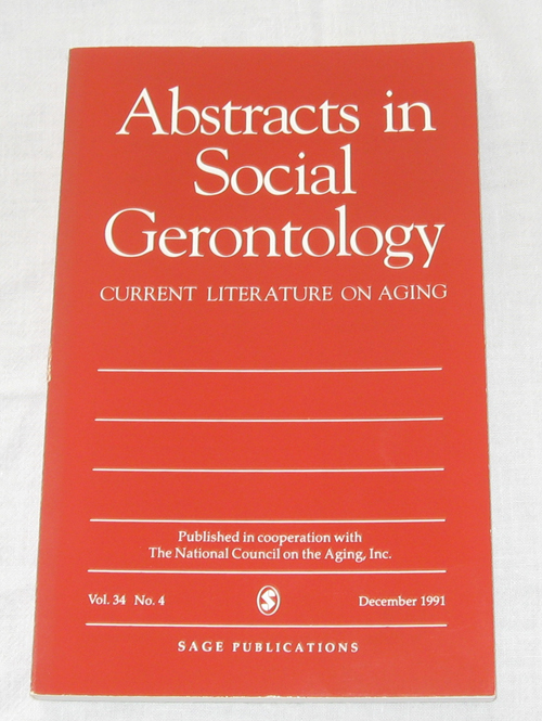 Image for Abstracts in Social Gerontology, Vol. 34, No. 4, Dec. 1991