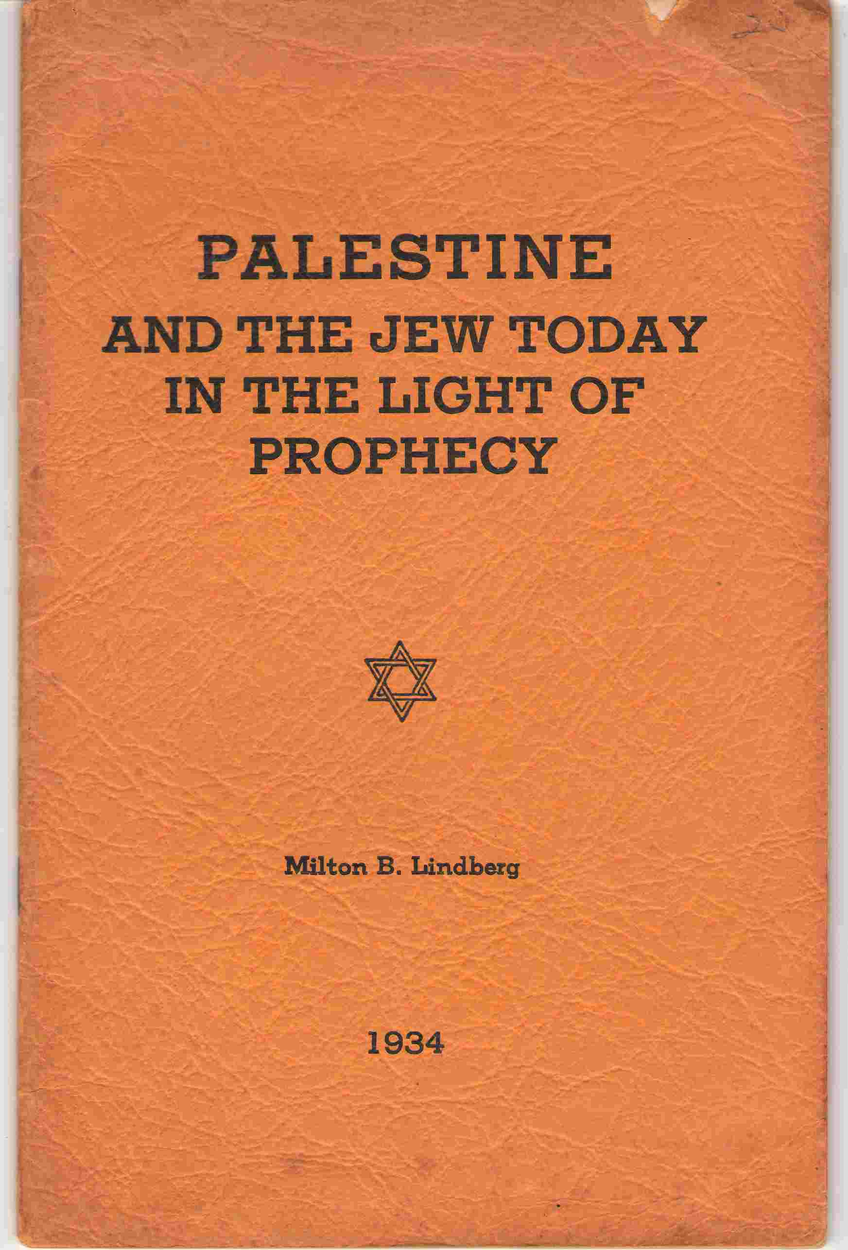 Image for Palestine And The Jew Today In The Light Of Prophecy