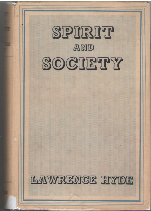 Image for Spirit And Society