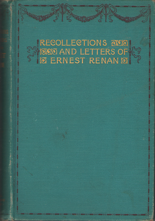 Image for Recollections and Letters of Ernest Renan