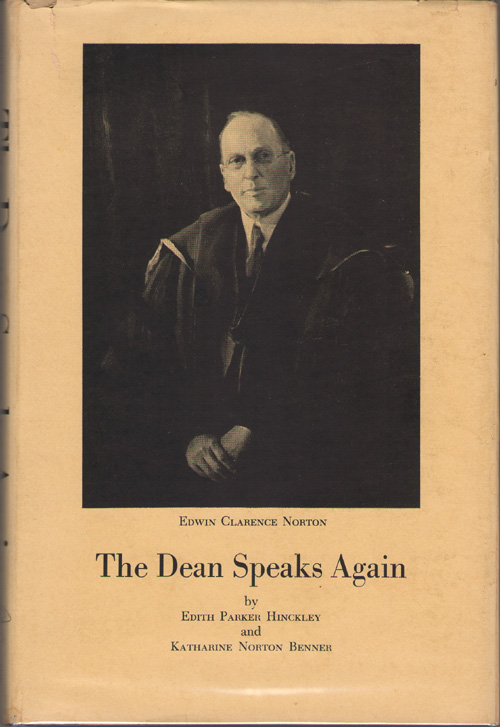 Image for The Dean Speaks Again Giving Hitherto Unpublished Excerpts from Personal Papers, Diaries, and Letters: Together with Portions of Previously Published Speeches