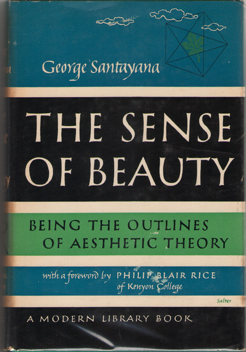 Image for The Sense of Beauty; Being the Outline of Aesthetic Theory