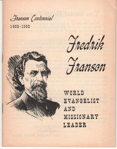 Image for Fredrik Franson World Evangelist and Missionary Leader