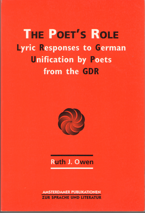 Image for Poet's Role Lyric Resposes to German Reunification by Poets from the G D R