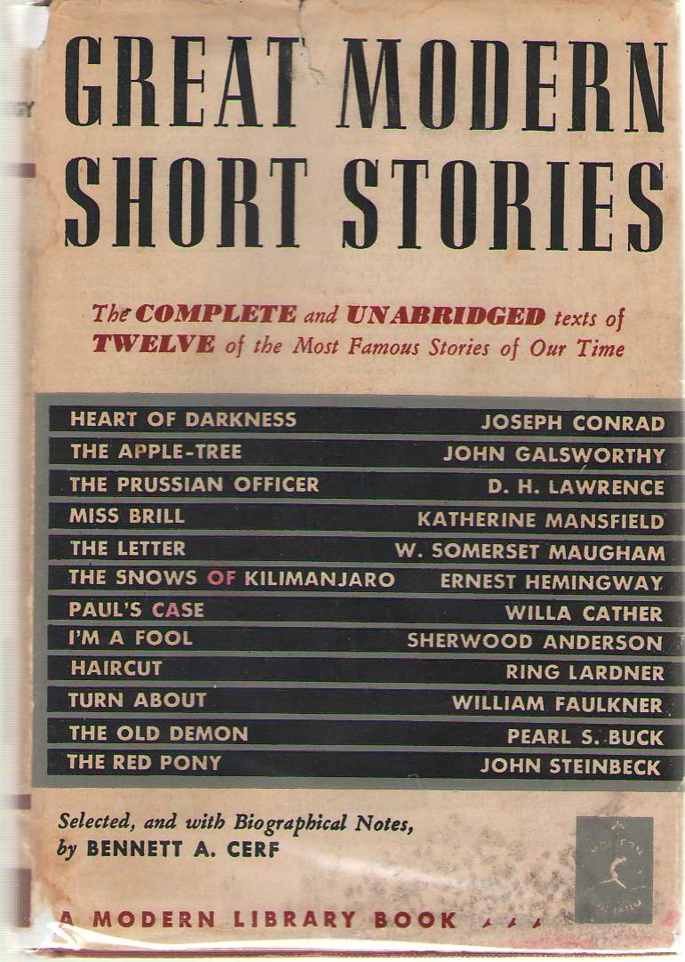 Image for Great Modern Short Stories An Anthology of Twelve Famous Stories and Novelettes