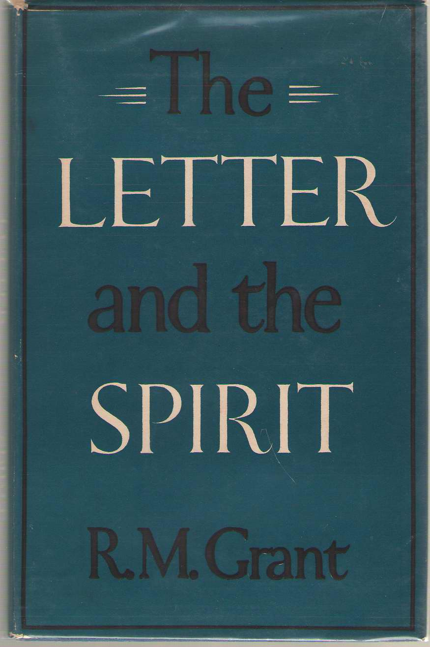 Image for The Letter and the Spirit