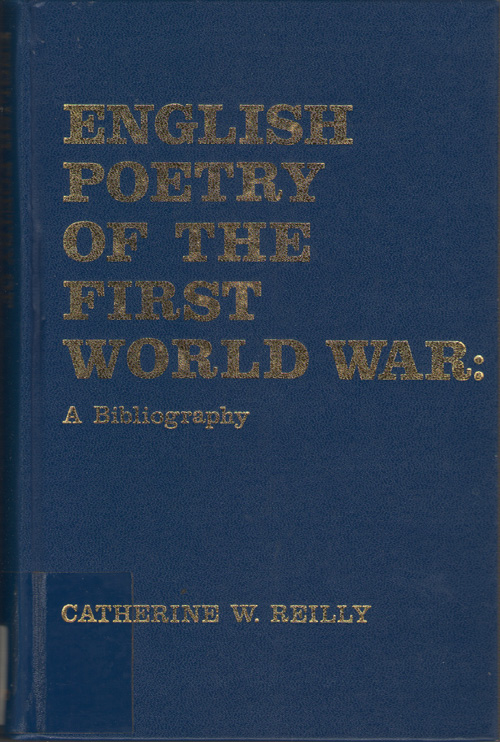 Image for English Poetry Of The First World War A Bibliography