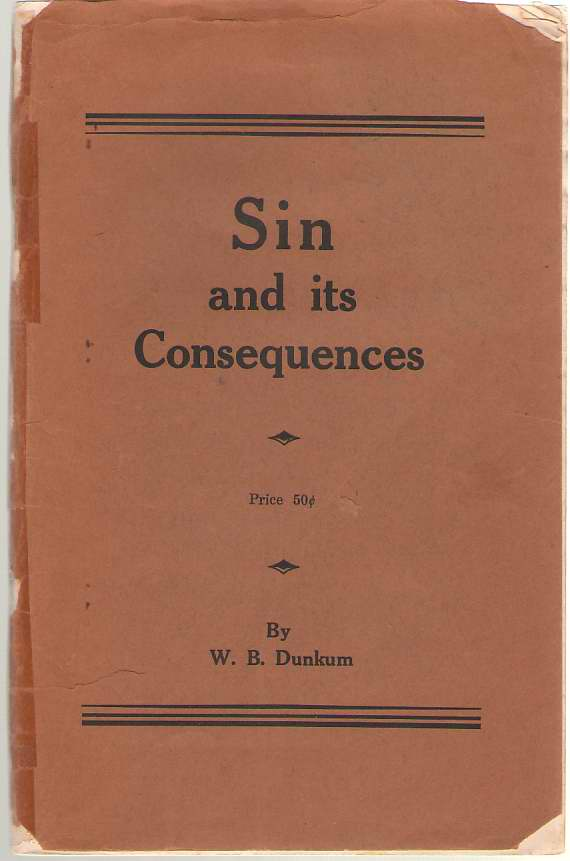 Image for Sin And Its Consequences