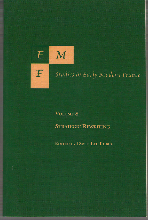 Image for Emf Studies In Early Modern France Strategic Writing, Volume 8
