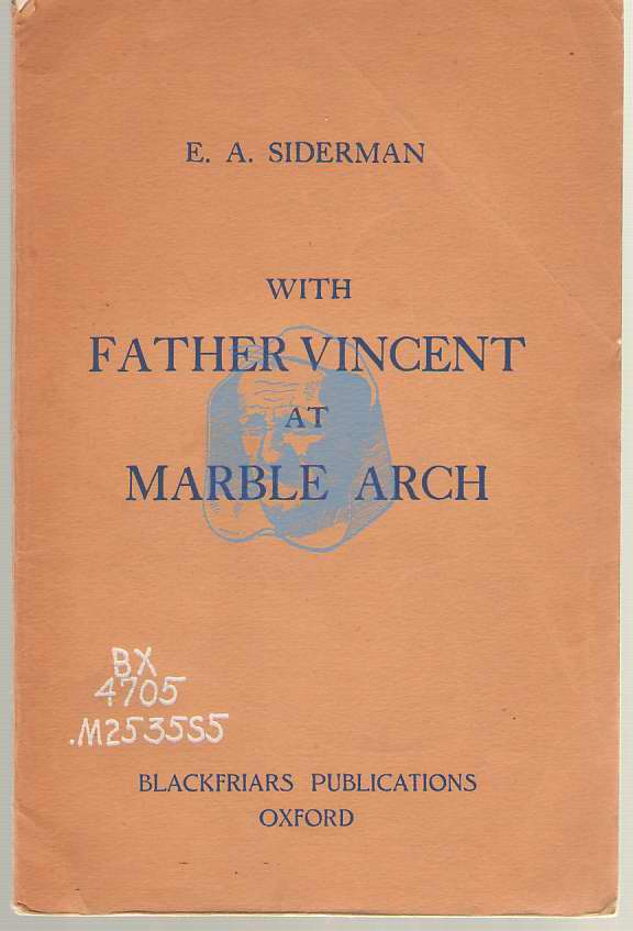 Image for With Father Vincent At Marble Arch