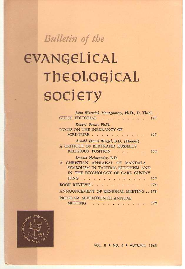 Image for Bulletin Of The Evangelical Theological Society Volume 8, Number 4, Autumn 1965