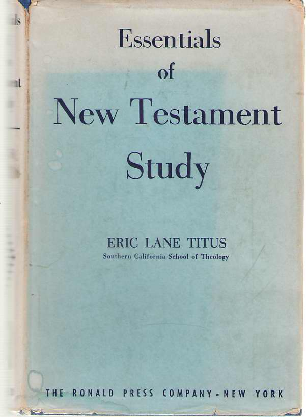 Image for Essentials of New Testament Study