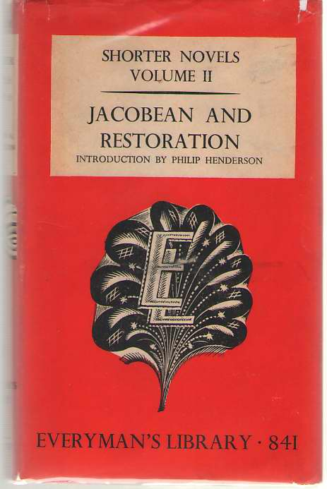 Image for Shorter Novels Volume II Jacobean and Restoration