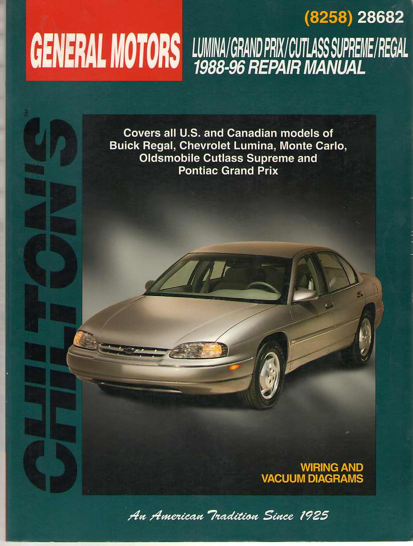 Image for GM Lumina, Grand Prix, Cutlass Supreme, and Regal, 1988-96