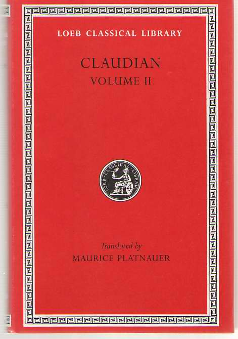 Image for Claudian  Volume II
