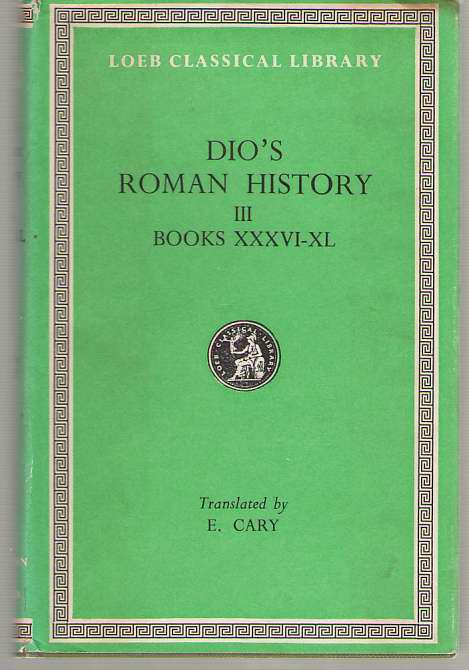 Image for Roman History, Volume III  Books 36-40