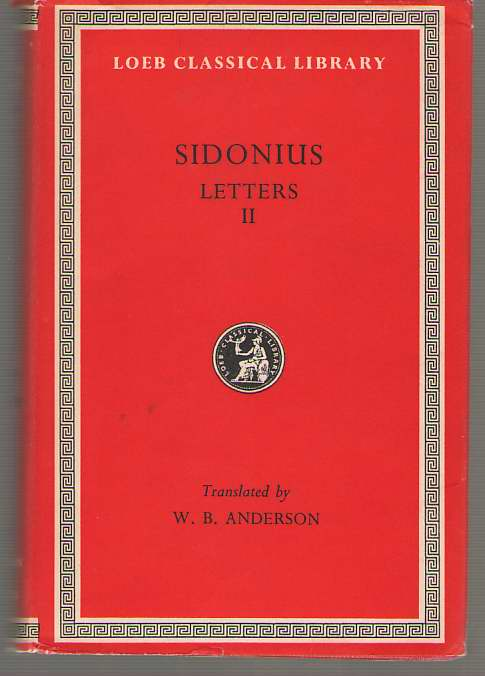 Image for Sidonius  Letters, Books 3-9