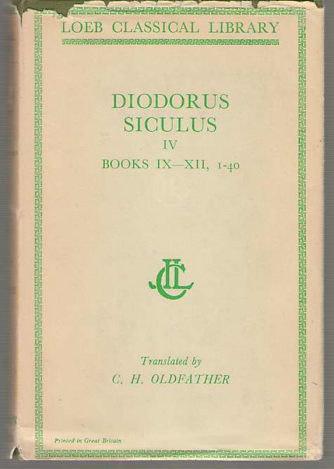 Image for Diodorus Siculus  Library of History, Volume IV, Books 9-12.40