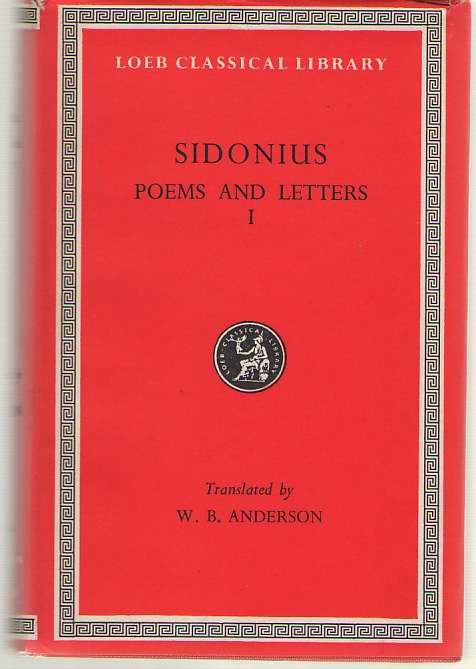 Image for Sidonius  Poems. Letters, Books 1-2