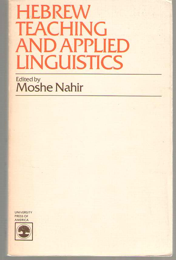 Image for Hebrew Teaching and Applied Linguistics