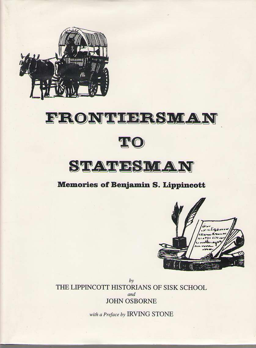 Image for Frontiersman To Statesman Memories of Benjamin S. Lippincott