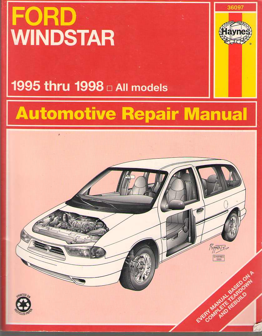 Image for Ford Windstar Automotive Repair Manual  Models Covered : All Ford Windstar Models 1995 Through 1998
