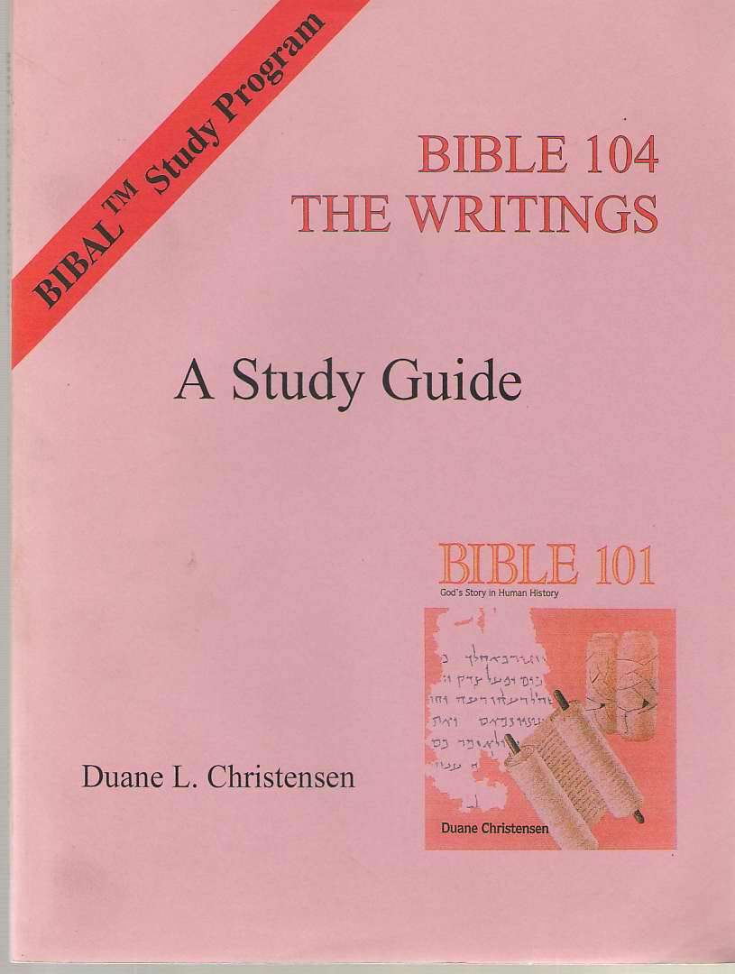 Image for Bible 104: The Writings  A Study Guide