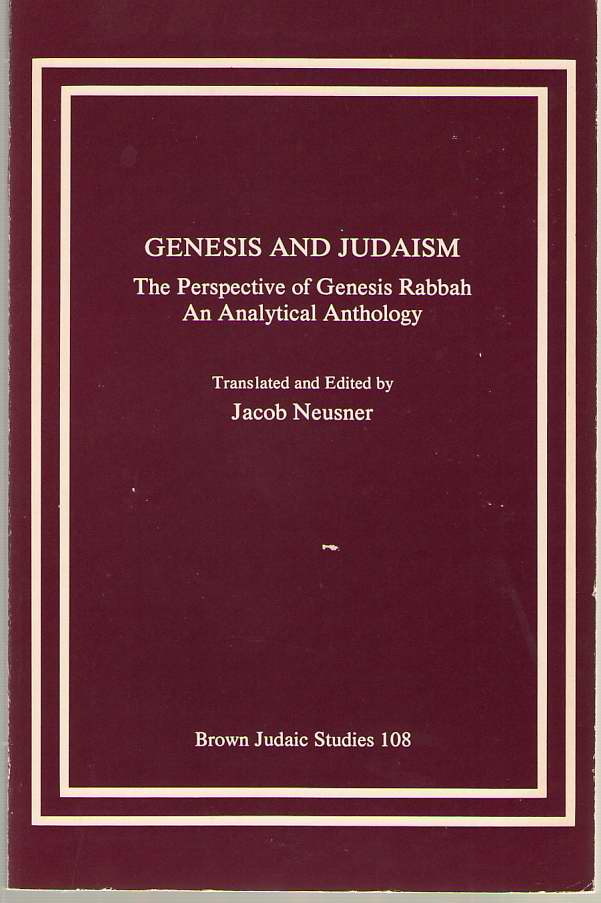 Image for Genesis and Judaism  The Perspective of Genesis Rabbah