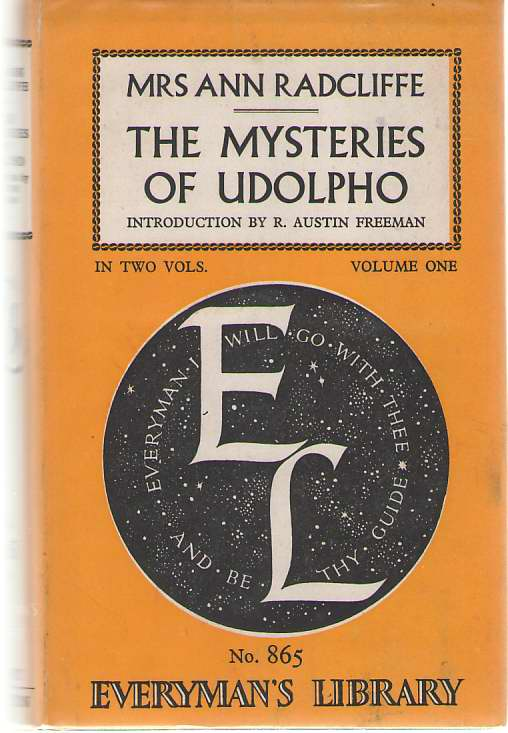 Image for Mysteries of Udolpho   Volume One