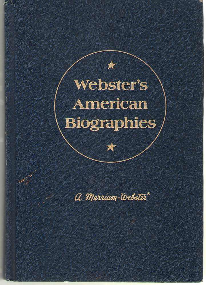 Image for Webster's American Biographies