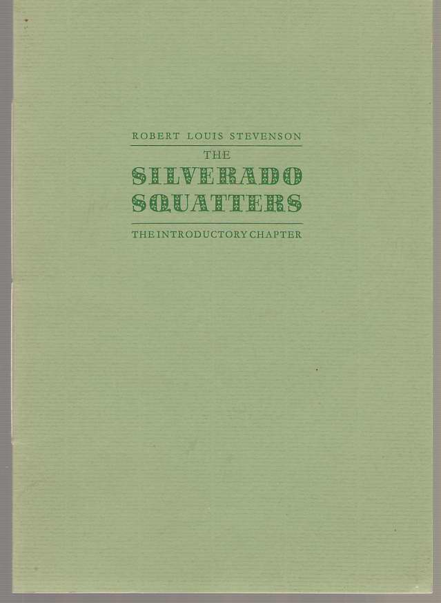 Image for The Silverado Squatters The Introductory Chapter