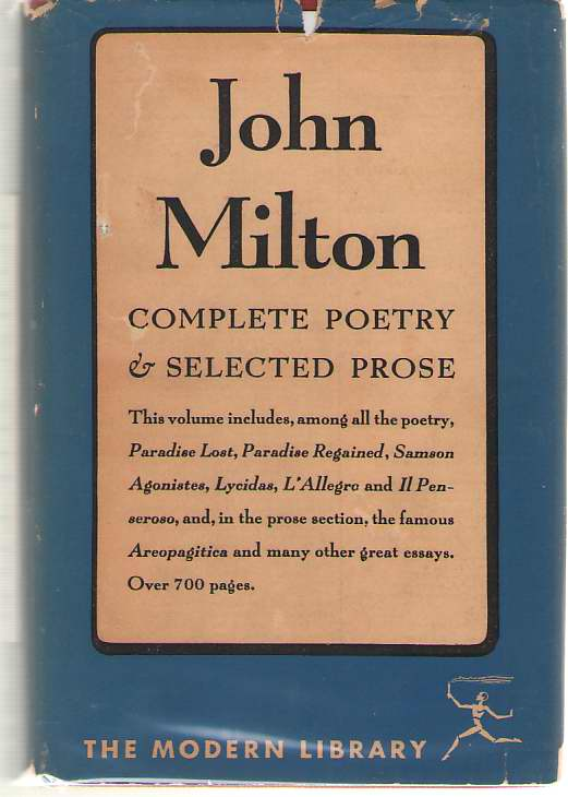 Image for The Complete Poetry And Selected Prose Of John Milton