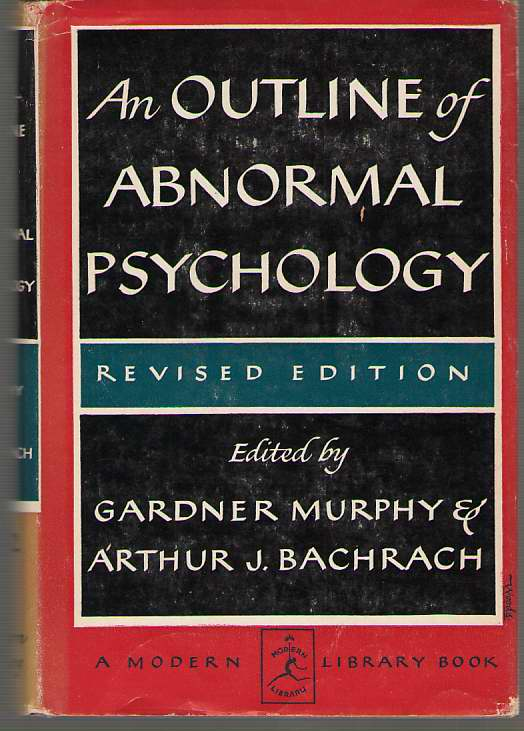 Image for An Outline Of Abnormal Psychology