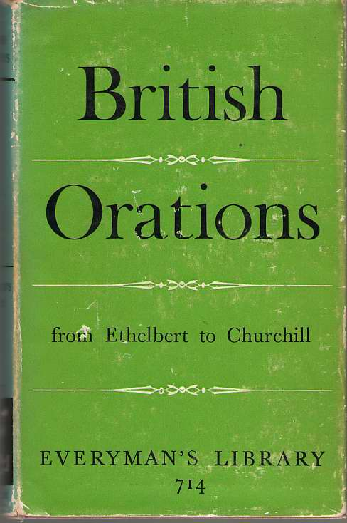 Image for British Orations from Ethelbert to Churchill