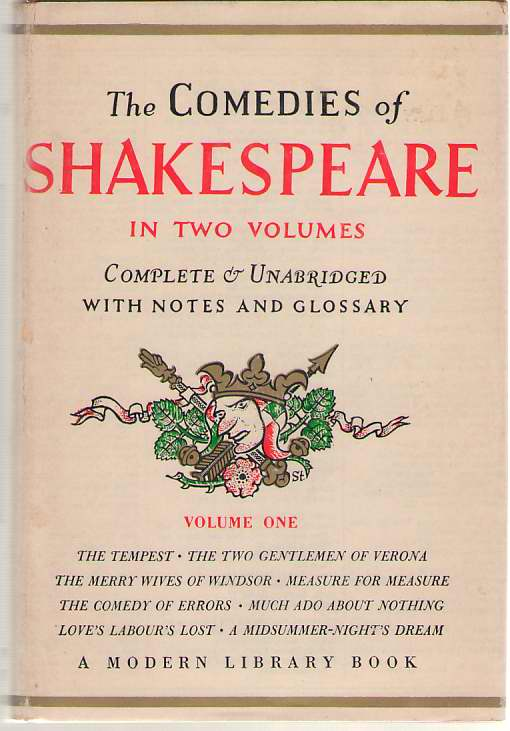 Image for The Comedies of Shakespeare Volume One