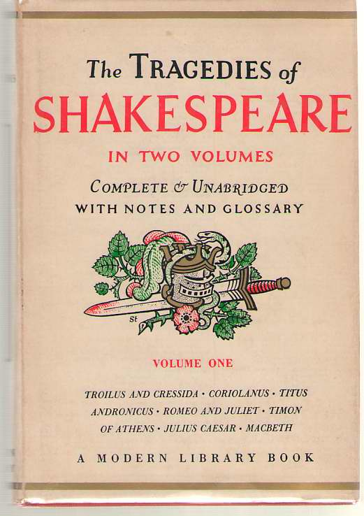 Image for The Tragedies Of Shakespeare - Volume One