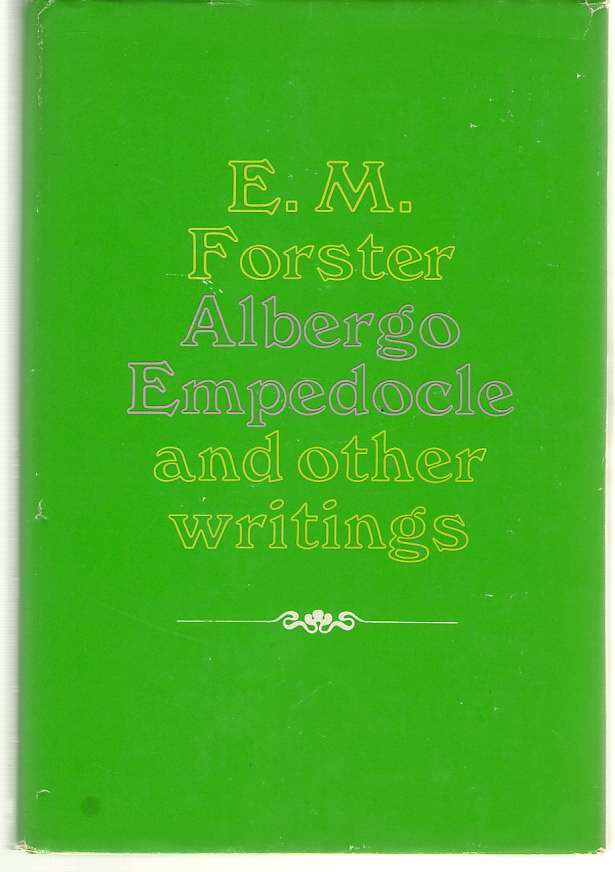 Image for Albergo Empedocle and Other Writings