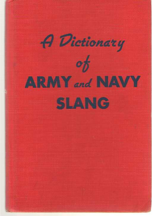Image for Dictionary of Army and Navy Slang