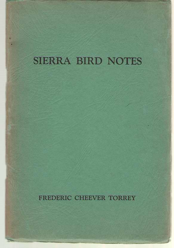 Image for Sierra Bird Notes
