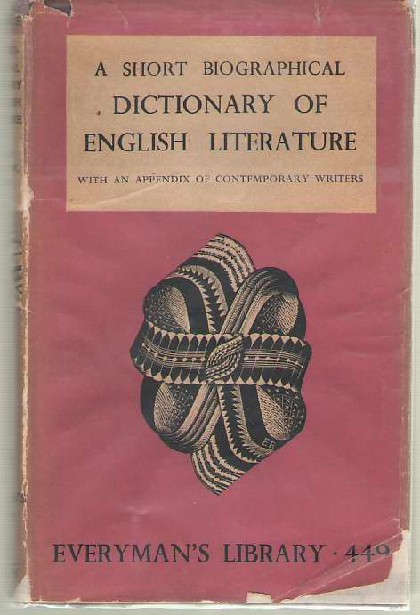 Image for A Short Biographical Dictionary of English Literature