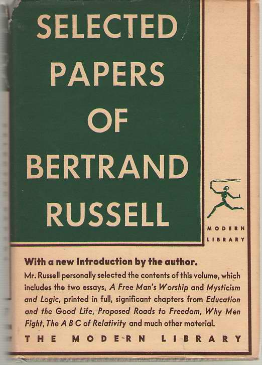 Image for Selected Papers Of Bertrand Russell