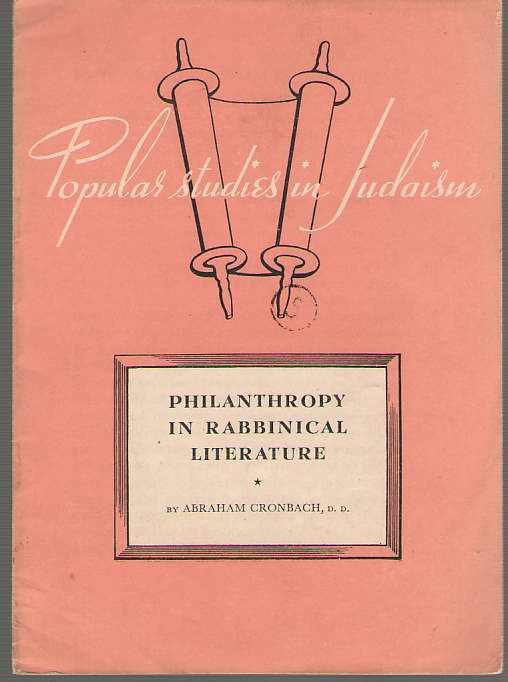 Image for Philanthropy In Rabbinical Literature