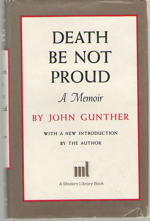 Image for Death Be Not Proud A Memoir