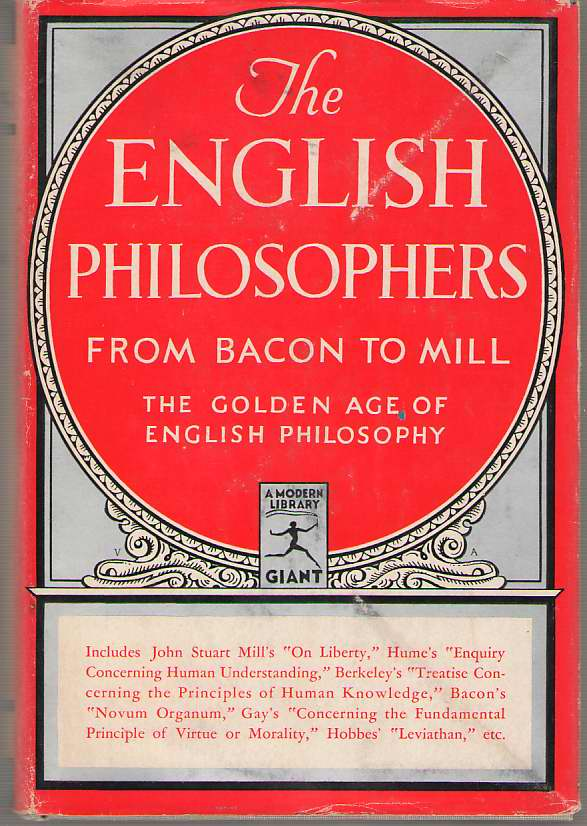Image for The English Philosophers From Bacon to Mill