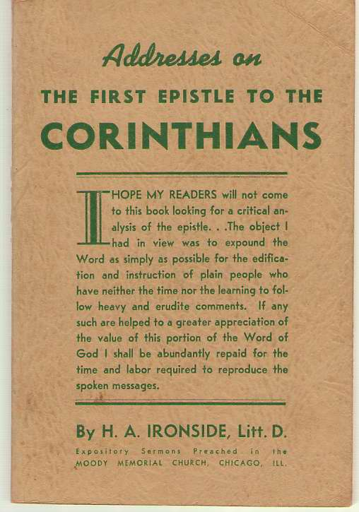 Image for Addresses on the First Epistle to the Corinthians