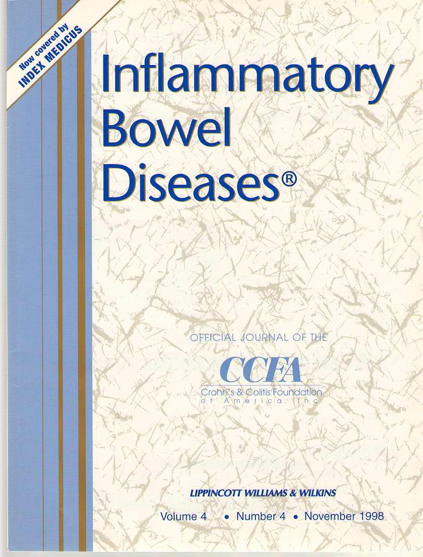 Image for Inflammatory Bowel Diseases: Official Journal Of The Ccfa Volume 4 - Number 4 - November 1998