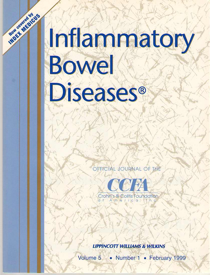 Image for Inflammatory Bowel Diseases: Official Journal Of The Ccfa Volume 5 - Number 1 - February 1999