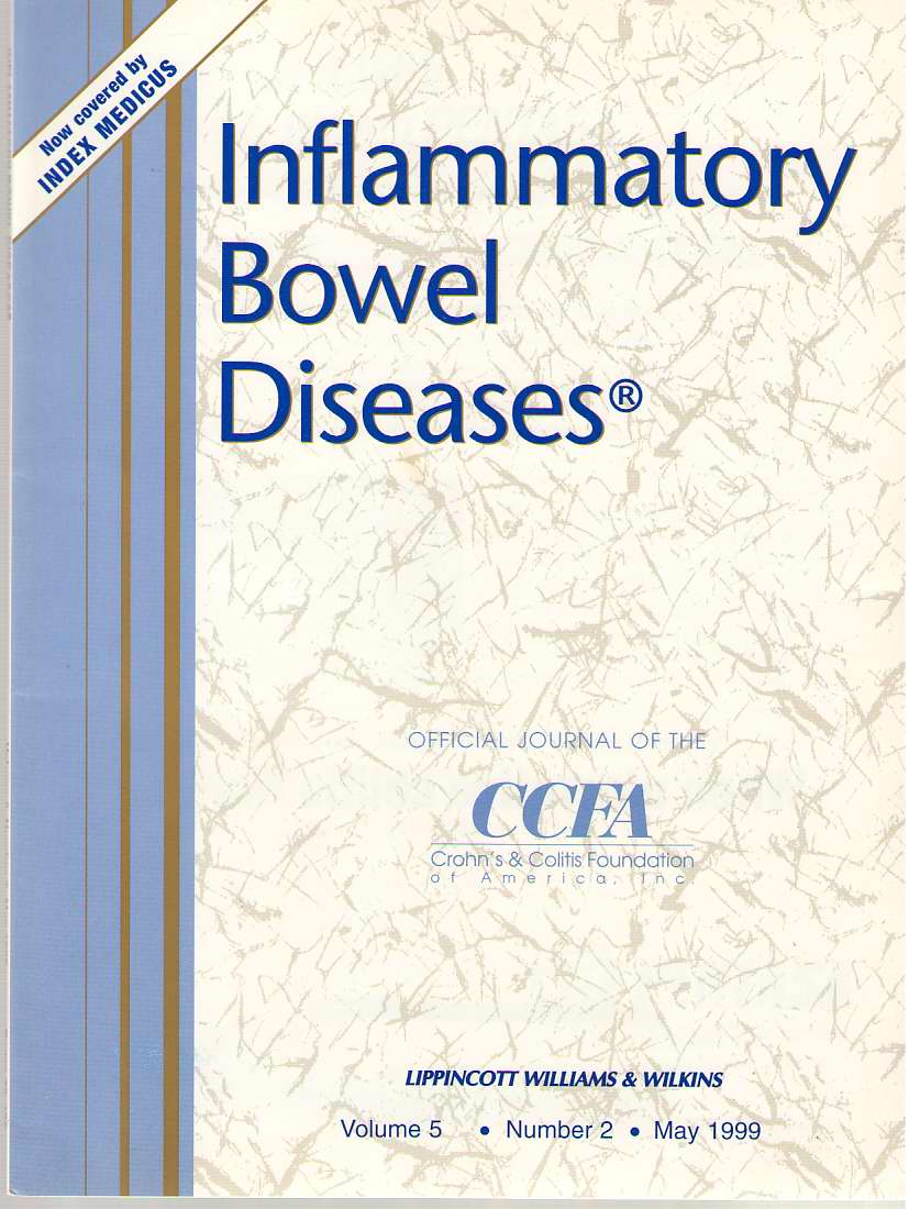 Image for Inflammatory Bowel Diseases: Official Journal Of The Ccfa Volume 5 - Number 2 - May 1999